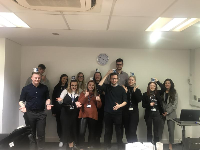 Apprentice ambassadors at tea & chat networking event for National Apprenticeship week 2020