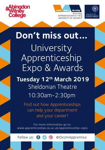 oxford uni Apprenticeships award poster