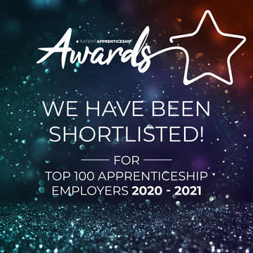 Rate My Apprenticeships top 100 apprenticeship employers table - shortlist badge for University of Oxford